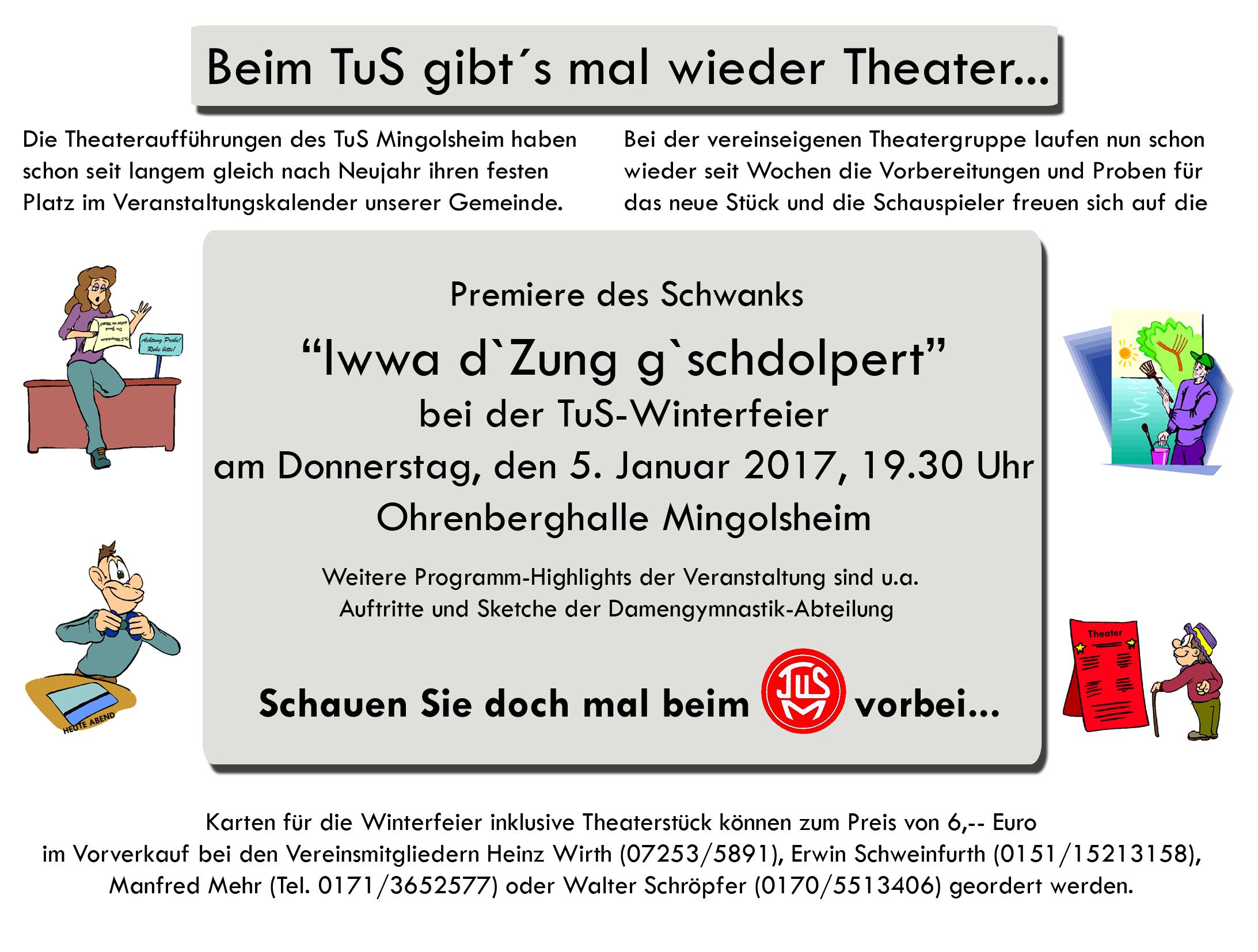 Einladung zur TuS-Winterfeier am 5. Januar 2017